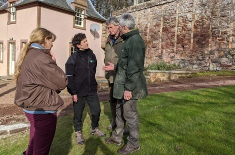 Fact-finding visit for rural minister to Scottish estate