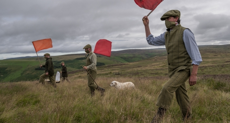 Preparations for the grouse season in the Lammermuir Hills, 7 August 2020