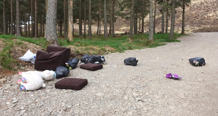 Scottish Government asked to step in as bin bag of human faeces found among illegally dumped rubbish